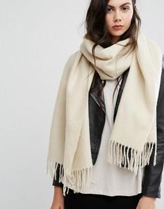 Длинный мягкий шарф с кисточками ASOS - Кремовый