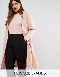Легкое пальто с длинными рукавами Junarose - Розовый