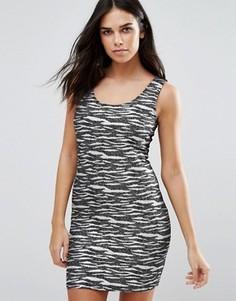 Трикотажное платье в полоску Jasmine - Черный