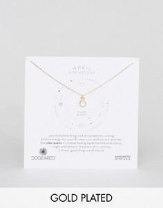 Ожерелье с хрусталем для рожденных в апреле Dogeared - Золотой