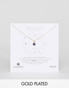 Ожерелье с сапфиром для рожденных в сентябре Dogeared - Золотой