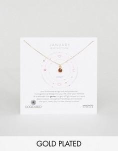 Ожерелье с гранатом для рожденных в январе Dogeared - Золотой