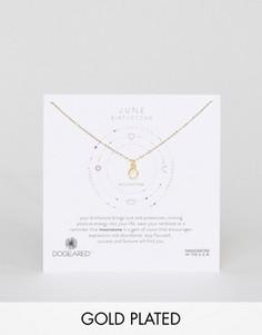 Ожерелье с лунным камнем для рожденных в июне Dogeared - Золотой