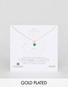 Ожерелье с изумрудом для рожденных в мае Dogeared - Золотой
