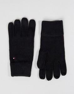 Черные перчатки из смесового кашемира Tommy Hilfiger - Черный