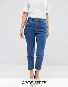Синие джинсы слим в винтажном стиле ASOS PETITE - Синий