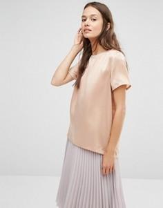Шелковая футболка Gestuz - Розовый