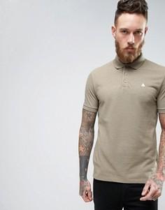 Зеленая меланжевая футболка-поло с логотипом ASOS - Коричневый