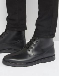 Черные кожаные ботинки на шнуровке ASOS - Зеленый