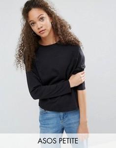 Свободная футболка ASOS PETITE - Черный