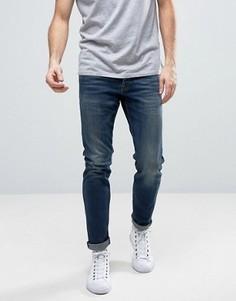 Выбеленные темно-синие узкие джинсы Jack & Jones Intelligence - Синий