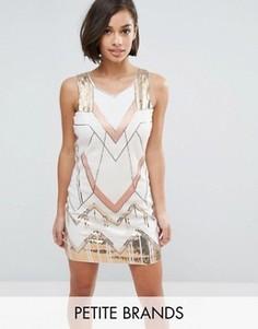 Цельнокройное платье Yumi Petite - Белый