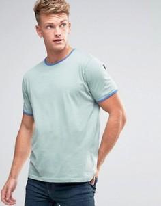 Базовая футболка с контрастной окантовкой Brave Soul - Синий