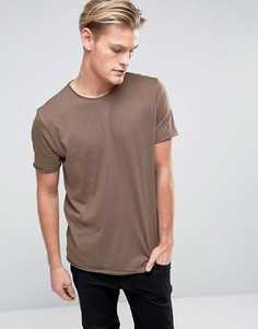 Базовая футболка с необработанными краями Brave Soul - Бежевый
