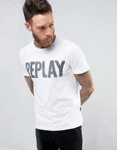 Футболка с логотипом Replay - Белый