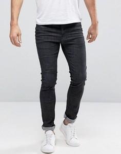 Черные джинсы слим Selected - Черный