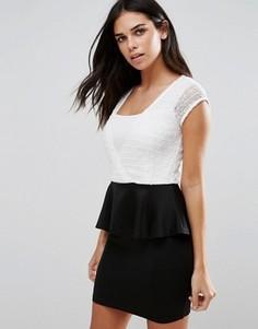 Черно-белое платье-футляр Jasmine - Черный