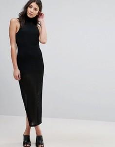 Платье с высоким воротом Unique 21 - Черный