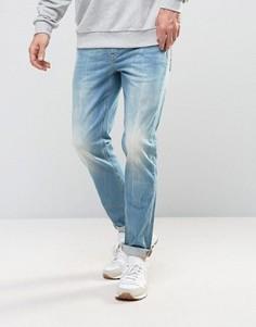 Светлые эластичные джинсы слим ASOS - Синий