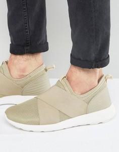 Песочные кроссовки с эластичными ремешками ASOS - Stone