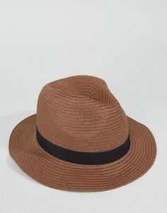 Соломенная шляпа ASOS - Бежевый