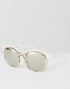 Белые круглые солнцезащитные очки CK Platinum - Белый Calvin Klein
