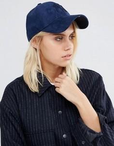 Синяя кепка из искусственной замши New Era 9 Forty - Синий