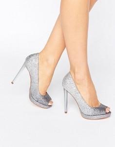 Серебристые туфли на каблуке Faith Cassie - Серебряный