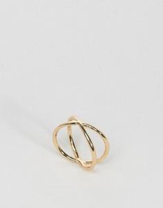 Двойное кольцо ASOS - Золотой