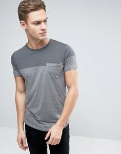 Разноцветная футболка с карманом Esprit - Серый