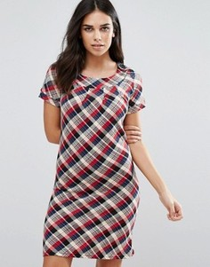 Платье-рубашка в клетку Jasmine - Красный