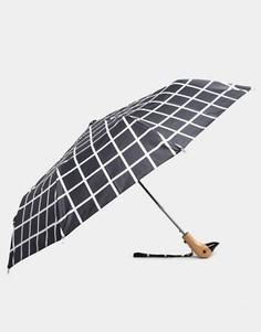 Черный зонт в решетчатую клетку Original Duckhead - Мульти