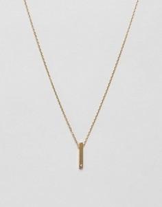 Ожерелье с вертикальной подвеской Orelia - Золотой