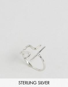 Серебряное кольцо с зодиакальной отделкой Весы Rock N Rose - Серебряный