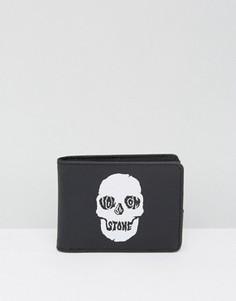 Черный бумажник Volcom Picto - Черный