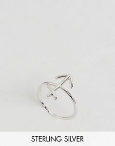 Серебряное кольцо с зодиакальной отделкой Стрелец Rock N Rose - Серебряный