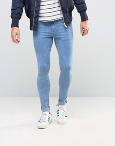 Супероблегающие джинсы ASOS - Синий
