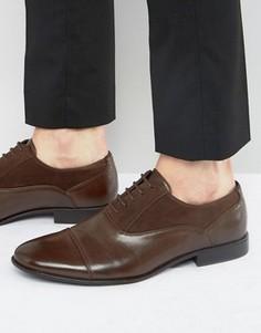 Коричневые оксфордские туфли из искусственной кожи ASOS - Коричневый