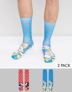2 пары носков (с Микки и Минни, др.) ASOS - Мульти