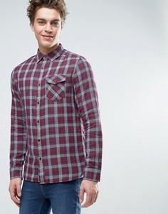 Джинсовая рубашка в клетку Tommy Hilfiger - Красный