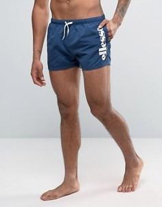 Темно-синие шорты для плавания с логотипом Ellesse - Темно-синий