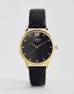 Черные часы с кожаным ремешком Limit - Черный