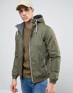 Куртка с капюшоном Solid - Зеленый