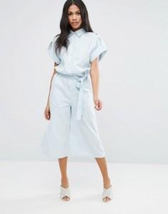 Комбинезон с юбкой-шортами Liquorish - Синий