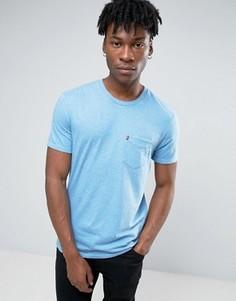 Выбеленная футболка цвета индиго с карманом Levis Sunset - Синий Levis®