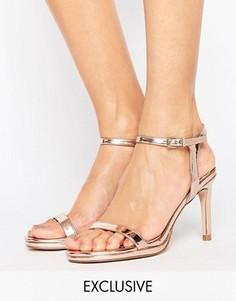 Золотистые сандалии на каблуке Faith Dolly - Золотой