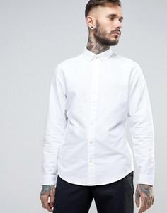 Белая оксфордская узкая рубашка с воротником на пуговицах Original Penguin - Белый