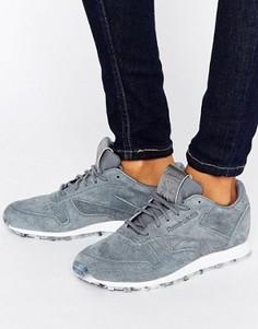 Серые кожаные кроссовки Reebok - Серый