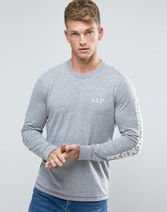 Серый лонгслив Abercrombie & Fitch - Серый