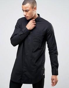 Черная длинная рубашка классического кроя New Look - Черный